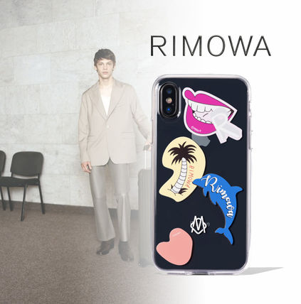 RIMOWA スマホケース・テックアクセサリー Rimowa Transparent Stickers Case for iPhone XS★クリア