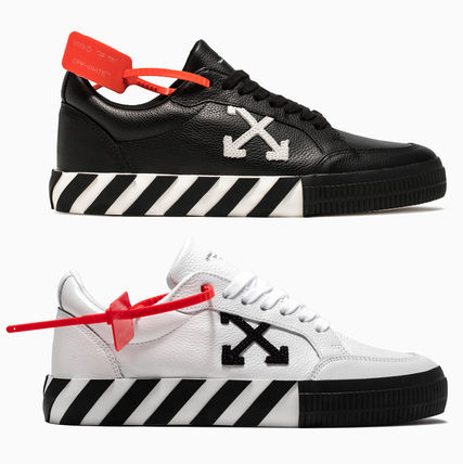 Off-White スニーカー OFF WHITE 19FW ARROW LOGO LEATHER VULC SNEAKERS