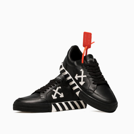 Off-White スニーカー OFF WHITE 19FW ARROW LOGO LEATHER VULC SNEAKERS(5)