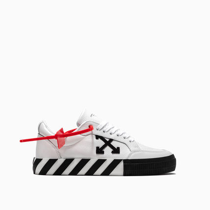 Off-White スニーカー OFF WHITE 19FW ARROW LOGO LEATHER VULC SNEAKERS(6)