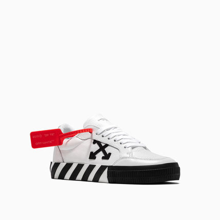 Off-White スニーカー OFF WHITE 19FW ARROW LOGO LEATHER VULC SNEAKERS(7)