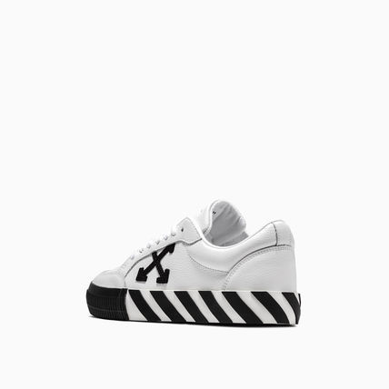 Off-White スニーカー OFF WHITE 19FW ARROW LOGO LEATHER VULC SNEAKERS(8)