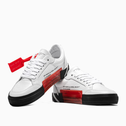 Off-White スニーカー OFF WHITE 19FW ARROW LOGO LEATHER VULC SNEAKERS(9)