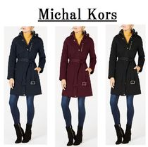 Michael Kors Petite Hooded Quilted Coat