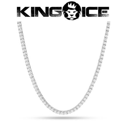 King Ice ネックレス・チョーカー 【King Ice】White Gold .925 Sterling Silver CZ Tennis Chain