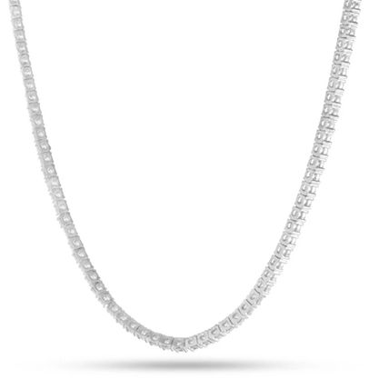 King Ice ネックレス・チョーカー 【King Ice】White Gold .925 Sterling Silver CZ Tennis Chain(2)