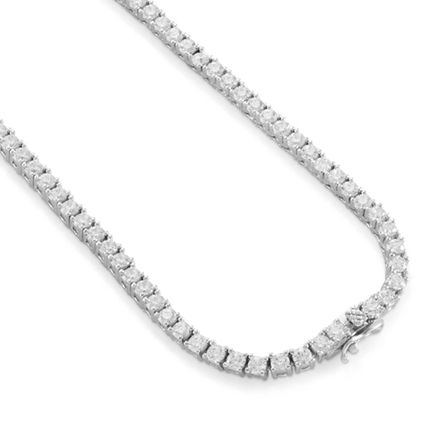 King Ice ネックレス・チョーカー 【King Ice】White Gold .925 Sterling Silver CZ Tennis Chain(3)