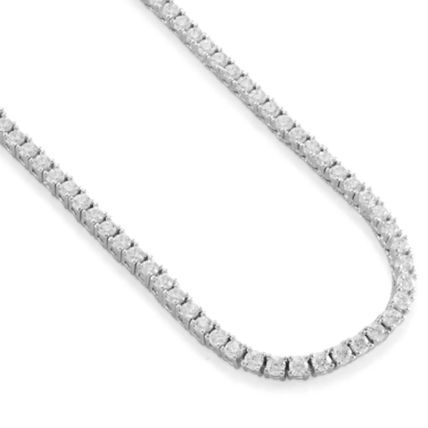 King Ice ネックレス・チョーカー 【King Ice】White Gold .925 Sterling Silver CZ Tennis Chain(4)