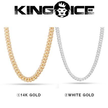 King Ice ネックレス・チョーカー 【King Ice】10mm Iced Miami Cuban Curb Chain
