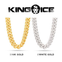 【King Ice】18mm Stainless Steel Miami Cuban Curb Chain