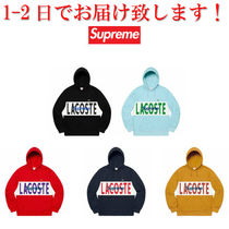 Supreme LACOSTE Logo Panel Hooded Sweatshirt パーカー