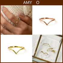 ★関税送料込★AMY O★Dainty Chevron Ring*Vリング