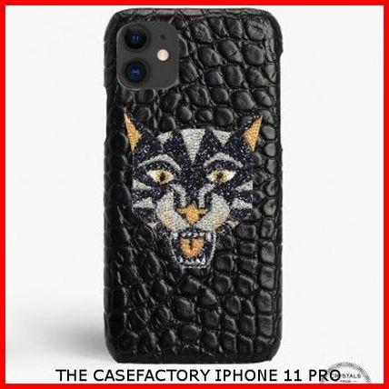 THE CASE FACTORY スマホケース・テックアクセサリー 関税送料込☆THE CASEFACTORY☆IPHONE 11 PRO SWAROVSKI TIGER