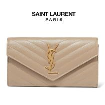 ∞∞ Saint Laurent ∞∞ Monogramme quilted leather 長財布☆