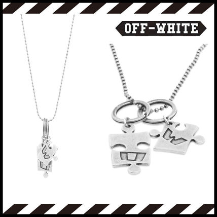 Off-White ネックレス・チョーカー Off-White シルバー パズル チェーン ネックレス【国内発】