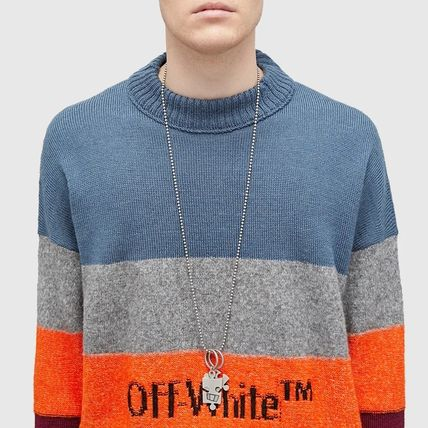 Off-White ネックレス・チョーカー Off-White シルバー パズル チェーン ネックレス【国内発】(5)