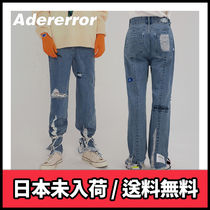 【ADERERROR】Mes cutting jeans