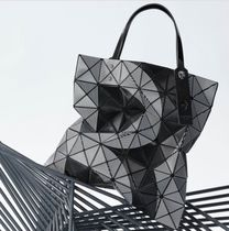 Bao Bao Issey Miyake LUCENT TRACK Bトートバッグ6×6BLACK MIX