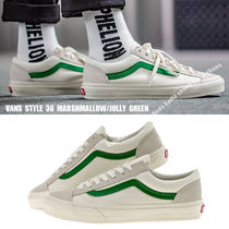 VANS★STYLE 36★兼用★MARSHMALLOW/JOLLY GREEN