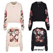 UK発!【OFF-WHITE】Floral Arrows ボタニカル柄 トレーナー