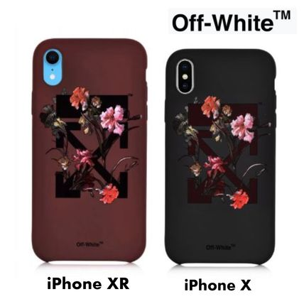 Off-White スマホケース・テックアクセサリー UK発!【OFF-WHITE】Floral Arrows iPhone XR/X ケース