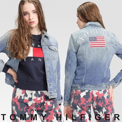 Tommy Hilfiger アウターその他 TOMMY JEANS バックロゴトラックジャケット 国内買付 すぐ届く