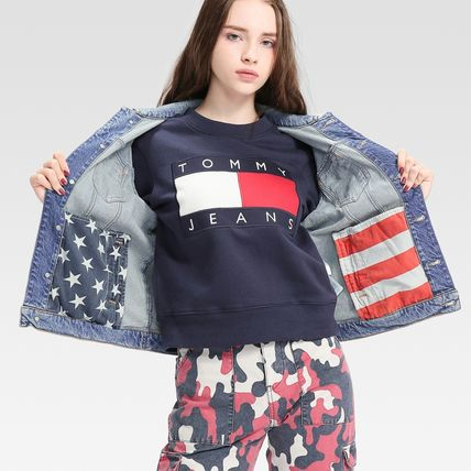 Tommy Hilfiger アウターその他 TOMMY JEANS バックロゴトラックジャケット 国内買付 すぐ届く(7)