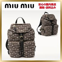 人気◆MiuMiu◆Logo Monogram Backpack【関税送料込】
