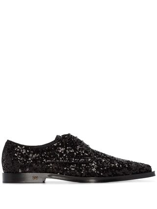 Dolce & Gabbana シューズ・サンダルその他 関税込◆Millennials sequin-embellished lace-up shoes(3)