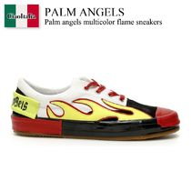 Palm angels multicolor flame sneakers