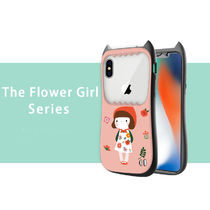 The Flower Girl Series iPhone xs xr 8 8plus ケース ピンク♪