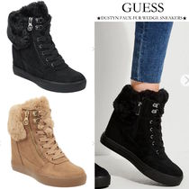 【GUESS/ゲス】DUSTYN FAUX-FUR WEDGE SNEAKERS●フェイクファー