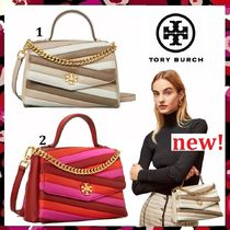 新作 Tory Burch Kira Chevron Color Block Top Handle Satchel