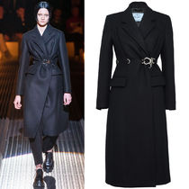 PR2126 LOOK2 DOUBLE CLOTH WOOL COAT WITH BUCKLE DETAIL