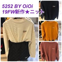 2019FW★新作【5252 by OiOi】HALF TWIST KNIT PULLOVER 全4色