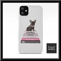 Fineartamerica    Pink Frenchie Bookstack★iPhoneケース