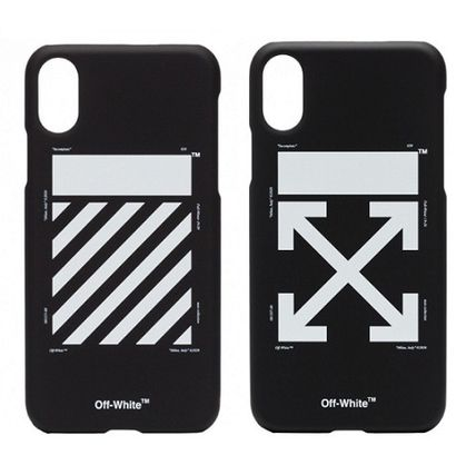 Off-White スマホケース・テックアクセサリー 【OFF-WHITE】 iPhone Xケース 黒 black【国内発送★関税込み】