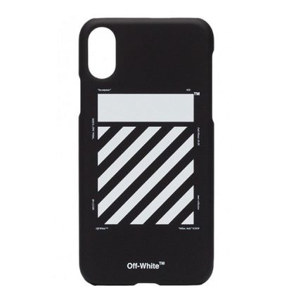 Off-White スマホケース・テックアクセサリー 【OFF-WHITE】 iPhone Xケース 黒 black【国内発送★関税込み】(2)