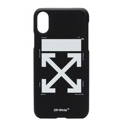 Off-White スマホケース・テックアクセサリー 【OFF-WHITE】 iPhone Xケース 黒 black【国内発送★関税込み】(3)