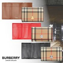 【★BURBERRY★Small Vintage Check E-canvas Folding Wallet】