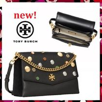 セール新作 Tory Burch Kira Mixed-Materials Shoulder Bag 2Way
