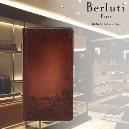 Berluti スマホケース・テックアクセサリー 【BERLUTI】Leather Flip Case iPhone XS Venezia