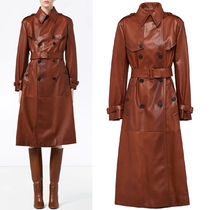 PR2147 NAPPA LEATHER TRENCH COAT