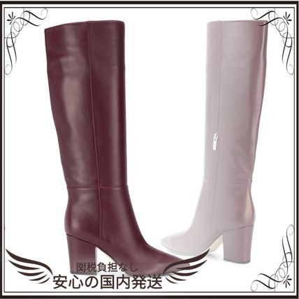 関税込◆knee-length pointed toe boots