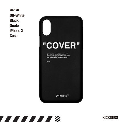 Off-White スマホケース・テックアクセサリー 海外限定!Off-White Black Quote iPhone X Case