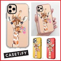 Casetify★キリンと花★iPhone 11/Pro/Pro Max ケース