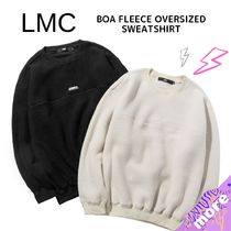 LMC★BOA FLEECE OVERSIZED SWEATSHIRT ブラック/ホワイト