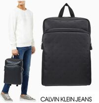 CALVIN KLEIN Smooth Essentials モノグラム スリム BACKPACK
