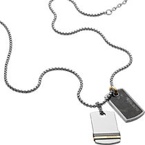 DIESEL ディーゼル Double Dogtags ネックレス DX1189040