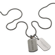 DIESEL ディーゼル Double Dogtags ネックレス DX1194040
